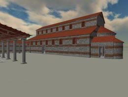Компютърна възстановка на епископската базилика - По А. Биернацки - Исторически музей град Свищов